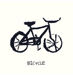 bicycle hand drawn vector image vector image