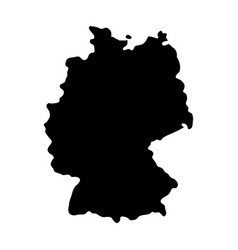 black silhouette country borders map of germany vector image