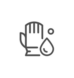 Cleaning glove line icon vector