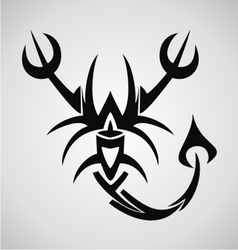 Scorpion Tribal vector image vector image