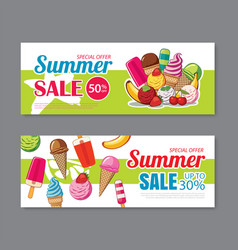 summer sale voucher background template discount vector image