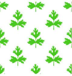 Coriander herb chinese parsley seamless pattern vector