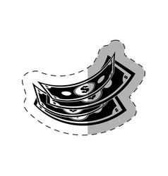 dollar money rich icon vector image
