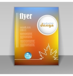 flyer brochure with autumn background vector image