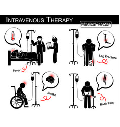 patient with multiple disease vector image vector image
