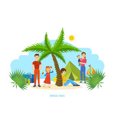 family trip to warm country common recreation vector image