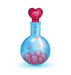 flask with a love potion vector image