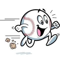 Happy Running Baseball vector image vector image
