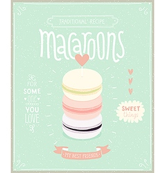 Macaroons Poster vector image vector image