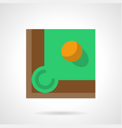 yellow billiard ball flat square icon vector image vector image