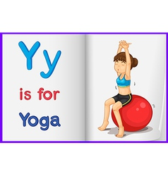 A picture of yoga in book vector