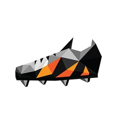 Abstract polygonal soccer shoes vector image