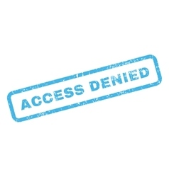 Access Denied Text Rubber Stamp vector image