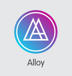 Alloy blockchain cryptocurrency - icon vector