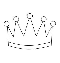 Award crown honor winner success icon vector