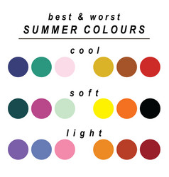 Best and worst colours for summer vector
