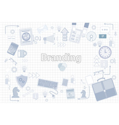Branding creation and development concept keyword vector