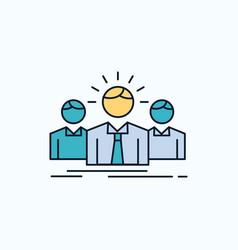 business career employee entrepreneur leader flat vector image