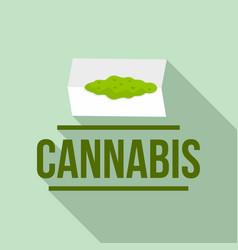 cannabis powder logo flat style vector image