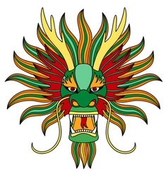 chinese dragon head vector image