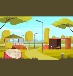 city park landscape composition vector image