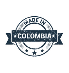 colombia stamp design vector image