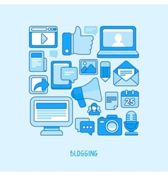 concept - blogging and writing for website vector image