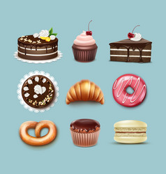 Confectionery set vector