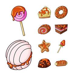 dessert and sweet symbol vector image