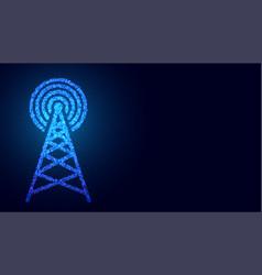 Digital mobile telecommunication tower network vector