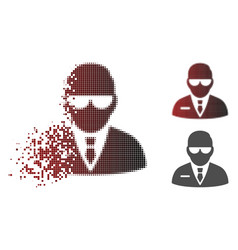 Dissolved dot halftone chief icon vector