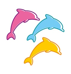 dolphin sign vector image
