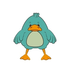 duck animal cartoon vector image