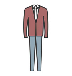 Elegant office suit icon vector