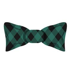 elegant square bow tie icon cartoon style vector image