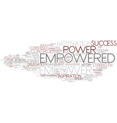 Empowered word cloud concept vector