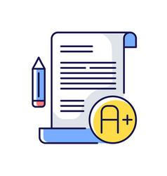 essay examination rgb color icon vector image