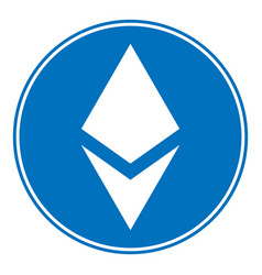 Ethereum sign on white vector