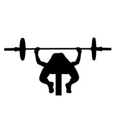 Female athlete bench press vector