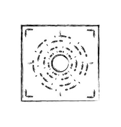 figure gun sight circle with shooting focus vector image