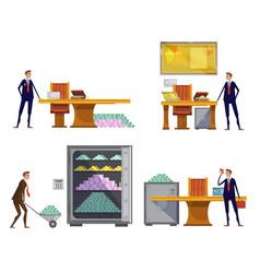 Financial wealth compositions set vector