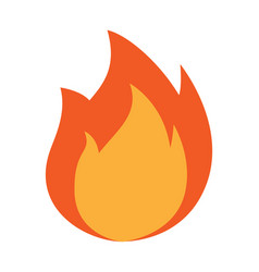 fire icon flames isolated vector image