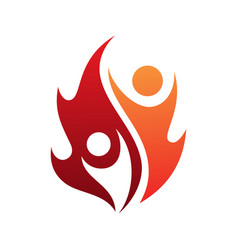 flame life vector image