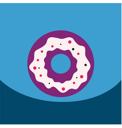 Flat icon design collection donut with vector