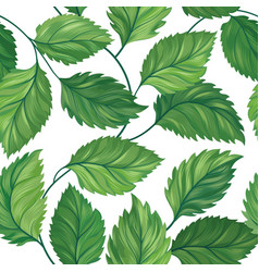 floral green leaf seamless pattern leaves vector image