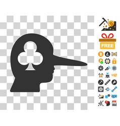Gambling jerk icon with bonus vector
