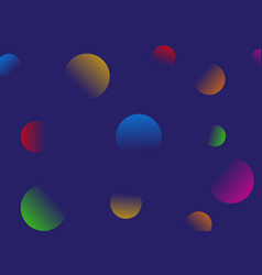 gradient circles on blue background vector image