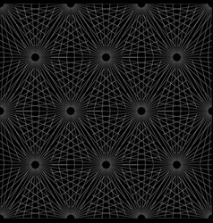 grid mesh with intersecting radial shapes vector image