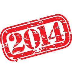 Grunge happy new 2014 year rubber stamp vector