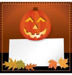 Halloween Jack o Lantern with Copyspace vector